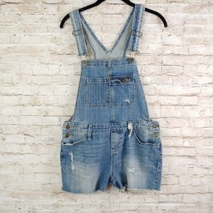 MOSSIMO DISTRESSED SHORTS OVERALLS